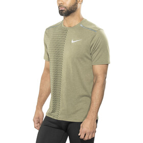 Nike Breathe Tailwind SS Running Top Men medium olive/sequoia